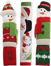 Bearsu - 3 Packs Snowman Kitchen Appliance Handle