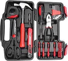 Bearsu - 38 Piece Tool Box, Portable Tool Case