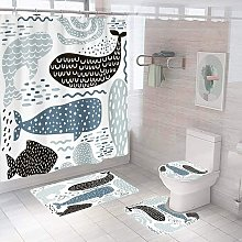 Bearsu - 4 Piece Dolphin Curtain Sets with Non-Slip