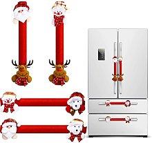 Bearsu - 4 Pieces Christmas Refrigerator Door