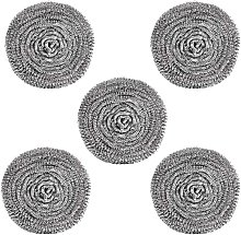 Bearsu - 5 Pcs 3.15 inch Durable Large Steel Wire