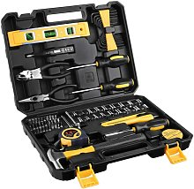 Bearsu - 78pcs Home Repair Tool Case with Toolbox