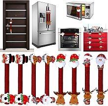 Bearsu - 8 Pieces Christmas Refrigerator Door
