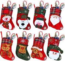 Bearsu - 8 Pieces Mini Christmas Stockings Xmas