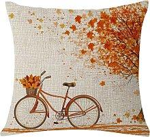 Bearsu - Autumn Fall Big Tree Pillow Cover Maple