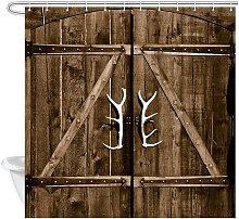 Bearsu - Barn Door Shower Curtain for