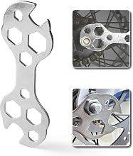 Bearsu - Bicycle Wrench Pry Bar 10 in 1 Mini Steel