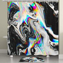 Bearsu - Black and White Mable Shower Curtain Cool