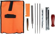 Bearsu - Chainsaw Sharpening Kit, 10Pcs Chainsaw Sharpener File Kit Chain Sharpener Chain Woodwork File Guide Bar Set, Metal Sharpening