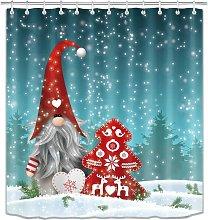 Bearsu - Christmas Shower Curtain for Bathroom,