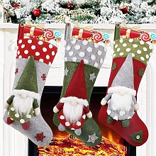 Bearsu - Christmas Stocking 3 Pack, 19 Inch 3D