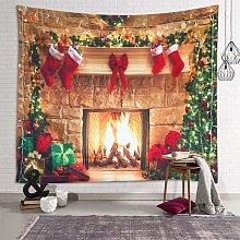 Bearsu - Christmas Tapestry Wall Hanging Fireplace