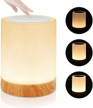 Bearsu - Dimmable Touch LED Bedside Lamp, LED