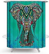 Bearsu - Elephant shower curtain with hook green