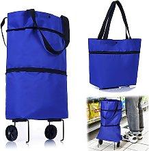 Bearsu - Foldable Shopping Cart, 2 in 1 2 Wheels