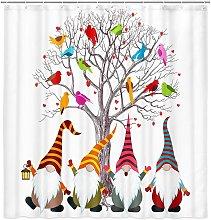 Bearsu - Funny Gnomes Elf Shower Curtain Cute