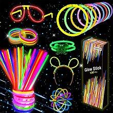 Bearsu - Glow Luminous Fluorescent Bracelets, 100
