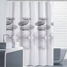 Bearsu - Gray Pebble Shower Curtain Mildew