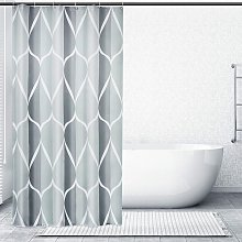 Bearsu - Grey Stall Small Fabric Shower Curtain,