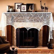 Bearsu - Halloween Fireplace Mantel Scarf,