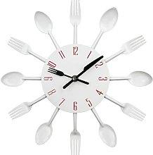 Bearsu - Kitchen Clock with Mirror Effect, Spoon
