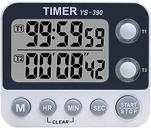 Bearsu - Kitchen Timer, 2 Channel Kitchen Timer,