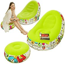 Bearsu - Lazy Inflatable Sofa with Inflatable Foot