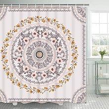 Bearsu - Mandala shower curtain floral medal