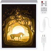 Bearsu - Papercut Light boxes, 3D Shadow Box Led