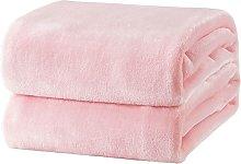 Bearsu - Pink Fleece Plaid Blanket 150x200 cm -