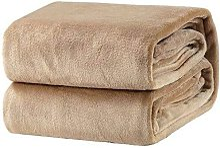 Bearsu - Plaid Taupe Fleece Blanket 150x200 cm -