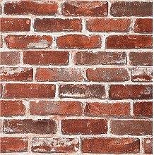 Bearsu - Red Brick Wallpaper, 20.8x222 inch Self