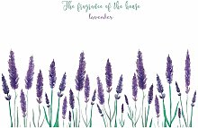 Bearsu - Removable Creative Purple Lavender Wall