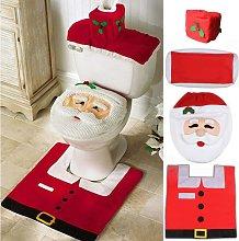 Bearsu - Santa Toilet Seat Cover, 4-Piece