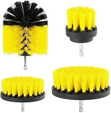 Bearsu - Set of 4 car cleaning brushes Yellow