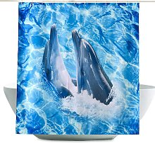 Bearsu - Shower Curtain 100% Polyester with 12