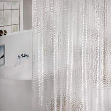 Bearsu - Shower Curtain Anti-Mould Eva Waterproof Curtain on Bath Antibacterial Including 12 Shower Curtain Rings, Child-Friendly