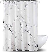 Bearsu - Shower Curtain,Grey and White Fabric