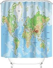 Bearsu - Taysta Shower Curtain Curtains World Map