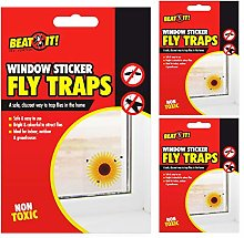 BEAT IT 9x Fly Insects Killer Bugs Flower Window