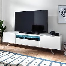 Beatrix Modern TV Stand In Matt White With LED
