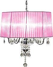 Beaumont 5 Light Shade Chandelier, Glass, Pink