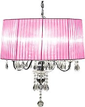 Beaumont 5 Light Shade Chandelier, Glass, Pink