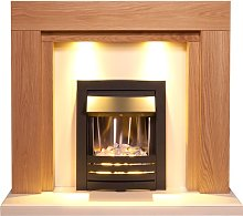 Beaumont Fireplace Suite in Oak & Cream with