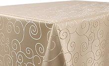 BEAUTEX Tablecloth Damask Ornaments – Non-Iron