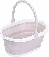 Beautiful and Practical Folding Bucket Light Pink