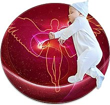 Beautiful angel, Printed Round Rug for Kids Family