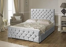 Beautiful ATN Upholstered Diamante Bed Frame in