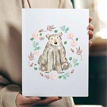 Beautiful Bear Wall Art Print | Gift for Friends &