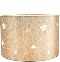 Beautiful Beige Linen Childrens/Kids Pendant/Lamp